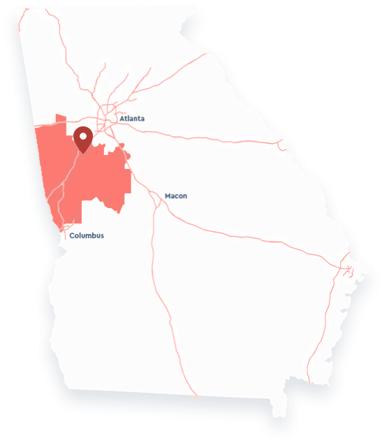 Map of the 3rd District of Georgia
